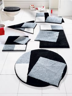 Inspirations d co on pinterest deco dressing and ranger - Idee deco salle de bain noir et blanc ...