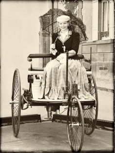 Bertha Benz, wife and business partner of automobile inventor Karl Benz. via Vintage Everyday