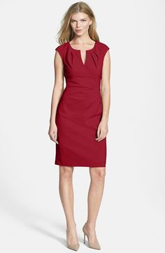 Adrianna Papell Side Pleat Sheath Dress (Regular & Petite) available at #Nordstrom
