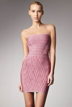 Herve Leger Alexa Dress In Pink Combo HL0016 are 55% off, just pick one piece one them.$196.95