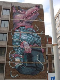 Saw this at See No Evil, Bristol. Probably my favourite piece there.   by Aryz