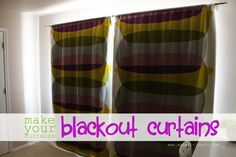 Make your curtains blackout curtains (simplified version) DIY