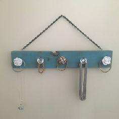DIY Hanging Necklace Holder Hanging necklaces Necklace holder and