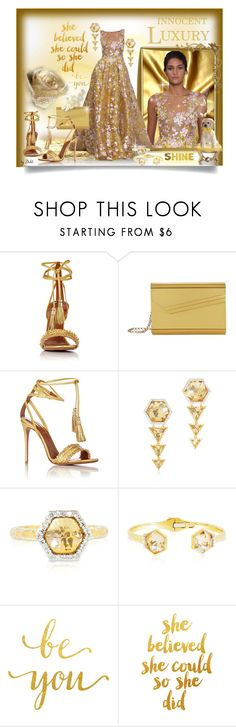 """""""Sem Título """" by dehti ❤ liked on Polyvore featuring Aquazzura, Jimmy Choo and Phillips House"""