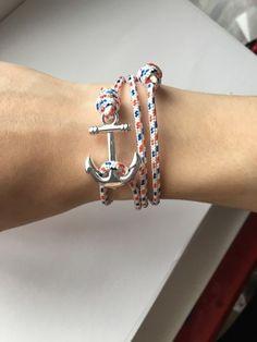 Bracelet ancre marine mixte