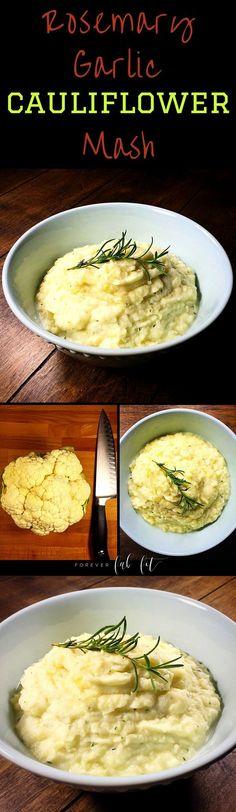 Rosemary Garlic Cauliflower Mash