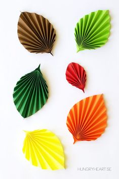 DIY Easy Paper Leaves Tutorial   Hungry Heart