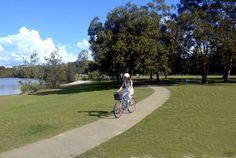 Riding in Albert Park