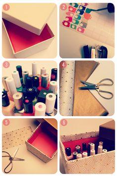DIY – Κουτί Αποθήκευσης Μανό / DIY: Nail polish Storage Idea