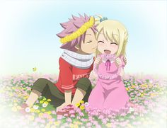 Natsu Dragneel and Lucy Heartfilia as kids. NaLu. Fairy Tail