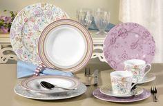 Orient Dekor Tafelservice 6 Personen 12 teilig Porzellan Geschirr Set Neu Rund | eBay