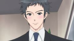 Brothers Conflict Subaru (sort of) smiling at Chi