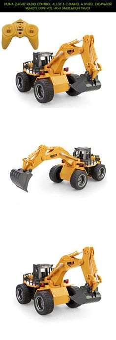 Huina 2.4Ghz Radio Control Alloy 6 Channel 4 Wheel Excavator Remote Control High Simulation Truck #plans #parts #products #camera #tech #kit #drone #fpv #shopping #huina #gadgets #racing #technology #rc