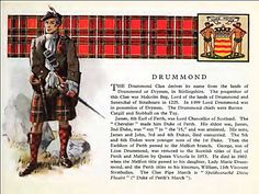 Clan Drummond history...I am part of this Scottish clan through my paternal grandmother.