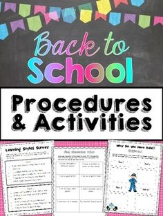 Back to School Activities: Have fun and help students build relationships and learn procedures with these fun back to school activities! There are a total of 13 activities that are perfect for getting students ready to learn! $