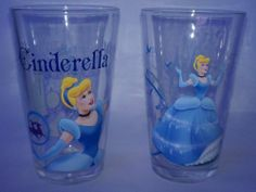 Two Disney Princess Glasses - Cinderella 16oz Glass Tumblers by The Zrike Company, Inc.. $21.23. 2 Glasses with 2 different Cinderella poses.. Cinderella. Disney 16oz Glass Tumblers. Perfect for all Disney Princess Lovers!. This set includes two 16oz glass tumblers featuring Cinderella from the Disney Princesses.  It contains two different Cinderella poses on the glasses.  Would make a perfect gift!! These glasses are not recommended for dishwasher use.