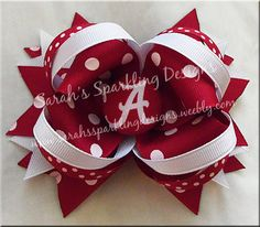 Alabama Crimson Tide Hair Bow