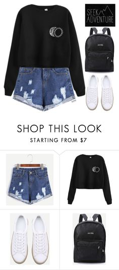 """Romwe #2 XI"" by oliverab ❤ liked on Polyvore featuring romwe and blackandyellow"