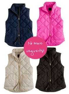 vests from J crew. Love the navy