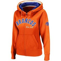 Boise State Broncos Ladies Express Full Zip Hoodie Sweatshirt - Orange