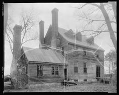 """Montpelier, Salem Church vic., Charles City County, Virginia. 1935. Frances Benjamin Johnston, 1864-1952, photographer. Library of Congress.  According to a Charles City County Marker about the Barnett community: """"This area was formerly the site of Montpelier , the magnificent home of the Ladds, a prominent Quaker family."""" The house no longer stands."""
