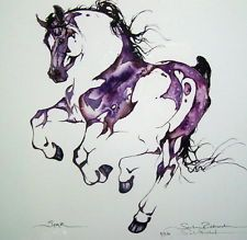 Watercolour horse. Would like it in blue though haha.