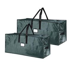 5074 Elf Stor Green Christmas Tree Bag Holiday Set for Two 9 Foot Trees Or One L for sale online Christmas Tree Storage Box, Christmas Tree Bag, Holiday Storage, Green Christmas, Xmas, Tote Storage, Green Bag, Large Bags, Elf