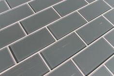Chimney Smoke Glass Subway Tiles traditional tile