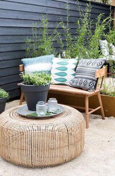Modern patio garden balconies 36 ideas for 2019 Outdoor Rooms, Outdoor Gardens, Outdoor Living, Outdoor Decor, Outdoor Patios, Ceramica Exterior, Patio Design, Garden Design, Garden Furniture
