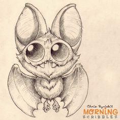 Bats are never not fun to draw!  #morningscribbles | 출처: CHRIS RYNIAK