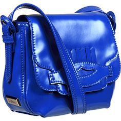 Botkier Carter Crossbody Electric Blue Matte Patent Cowhide/Light Gold - Zappos Couture #JulepColorChallenge #CreateYourJulepColor