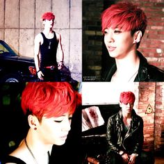 Bang Yongguk (방용국) of B.A.P- I vote that Yongguk's next hairstyle is this one again ^_^