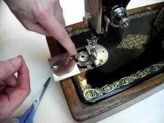 How to thread a Singer 66 treadle sewing machine - just in case I can't figure it out.