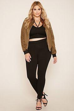 Plus Size Zipper Back Pants