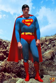 Christopher Reeve as Superman Superman Movies, Superman Family, Superman Man Of Steel, Superman Comic, Superman Pictures, Superman Images, Dc Comics, Christopher Reeve Superman, Adventures Of Superman