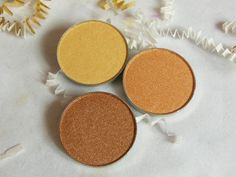 Luxie Beauty Gold Eye Shadows