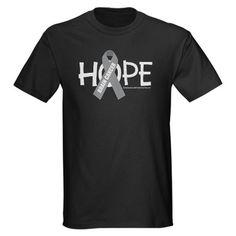 Brain Cancer Hope Dark T-Shirt