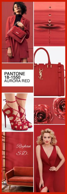 & # & # Rouge Aurora – Pantone & # par Reyhan S. Pantone Red, Pantone Color, Pantone 2016, Colors Of Fire, Mood Colors, Color Trends, Color Combos, Sirens Fashion, Mood And Tone