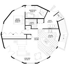 octagon house plans two bedroom octagon kitchen plans ~ home plan