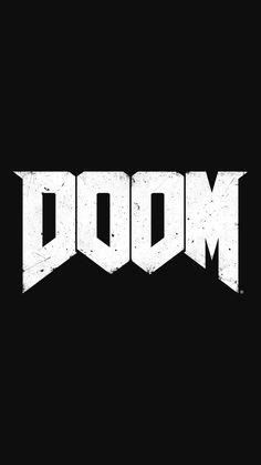 Black Wallpaper: DOOM Logo Shooter Game Smartphone Wallpaper and Lockscreen HD Touka Wallpaper, 8k Wallpaper, Black Wallpaper, Mobile Wallpaper, Doom 4, Doom Game, Doom Demons, Doom 2016, Amoled Wallpapers