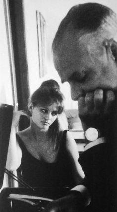 Claudia Cardinale and Alberto Moravia. Photo: Chiara Samugheo.