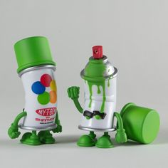 bent world spray can mini series.