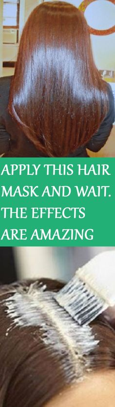 APPLY THIS HAIR MASK AND WAIT FOR FIFTEEN MINUTES- THE EFFECTS WILL LEAVE YOU BR