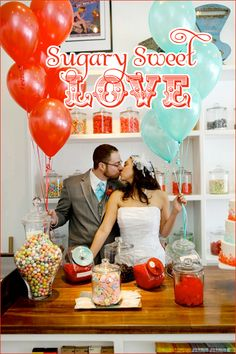 Sugary Sweet Love - This was for a wedding, but it would be cute for a couples shower as well.