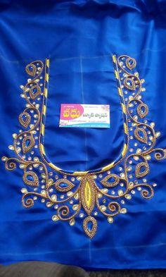 Cutwork Blouse Designs, Kids Blouse Designs, Wedding Saree Blouse Designs, Pattu Saree Blouse Designs, Blouse Neck Designs, Handmade Embroidery Designs, Embroidery Neck Designs, Hand Work Blouse Design, Stylish Blouse Design