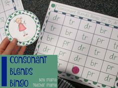 Consonant Blends Bingo (pr, br, tr, dr)   We use Words Their Way Spelling program at the school where I teach. I really like the program and find it very effective. I do not love the games tha…