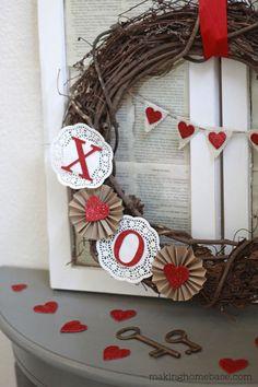 Making Home Base: Vintage Valentine's Vignette #ValentinesDay