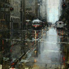 Jeremy Mann: cityscape