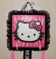 hello kitty zebra room - Google Search.... I will have to do this for Jazz's hello kitty pink and black room!