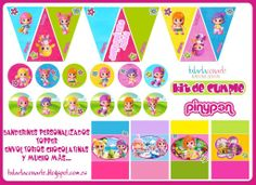 Kit de cumpleaños para mesa dulce de Pinypon (Candybar)